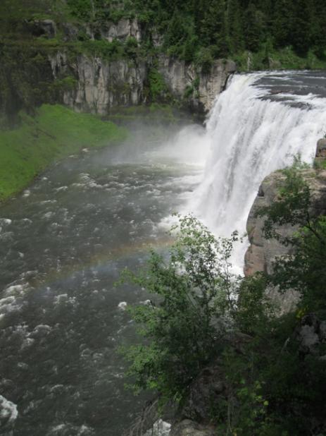 mesa falls and rainbow