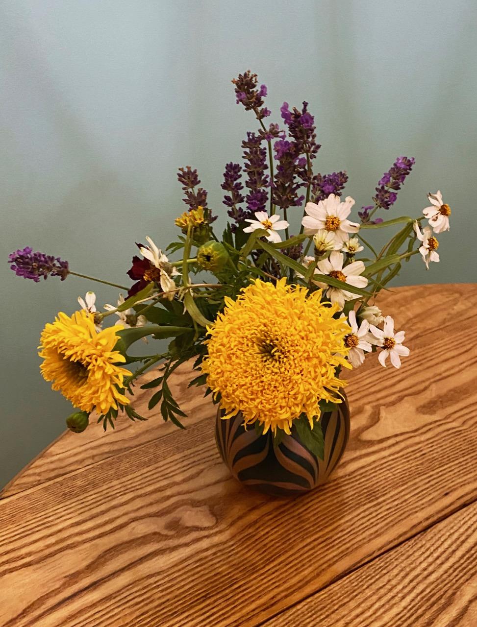 flowers glass vase