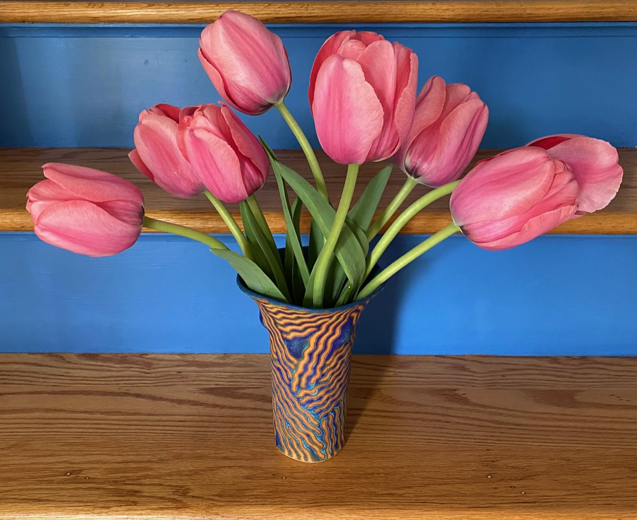 tulips indoors